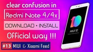 How to install MIUI 10 in Redmi Note 4 / 4x 🇮🇳 Redmi Note 4 vs 4x   MIUI 10 for Redmi Note 4