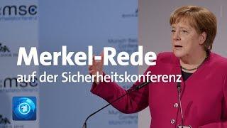 Rede der Kanzlerin: Merkel live auf der Münchner Sicherheitskonferenz