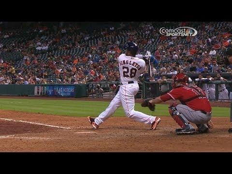 Singleton homers for first career hit