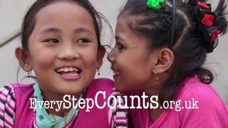 Khembro and Nirmala take their first steps - Every Step Counts - Nepal earthquake