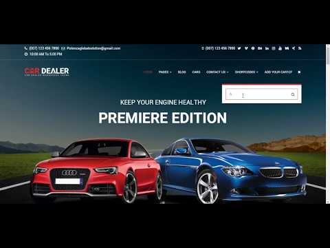 Automotive car dealership wordpress themes