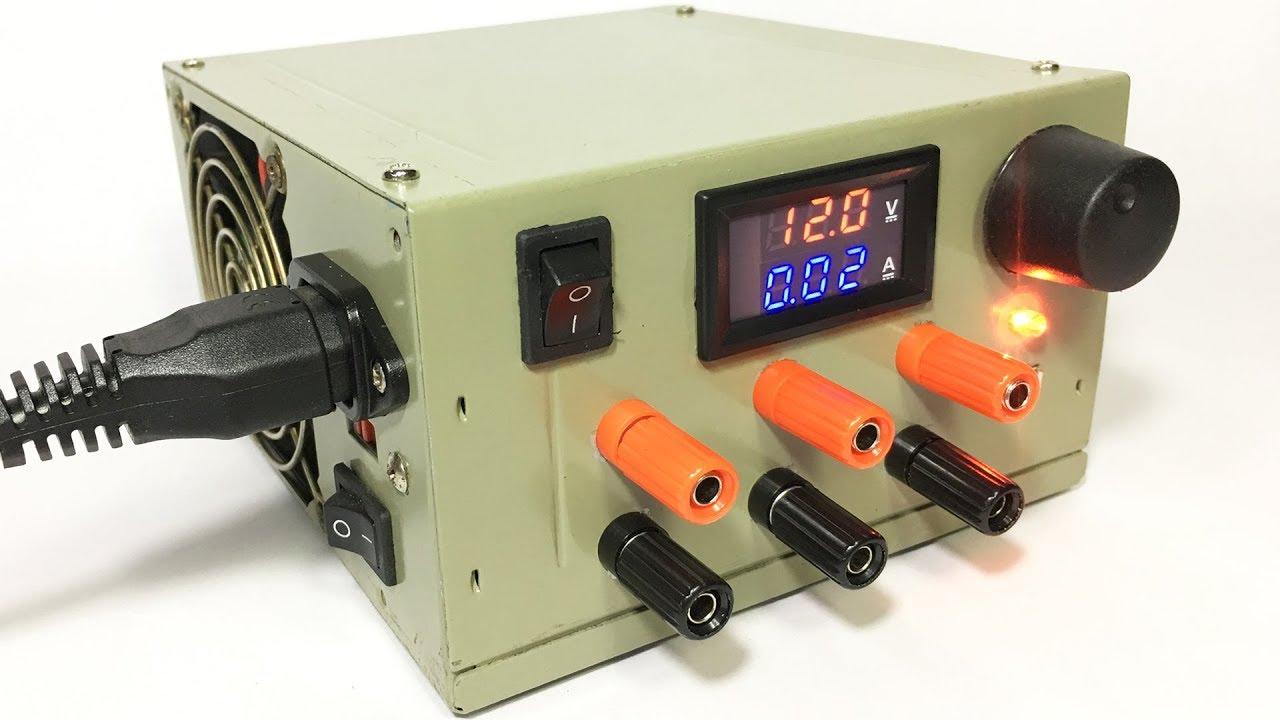 Diy Lab Bench Power Supply Make Using Atx Psu Youtube