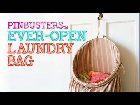 Ever-Open Laundry Bag // DOES THIS LAUNDRY HACK REALLY WORK?