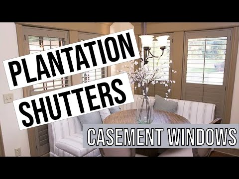 How to Install Plantation Shutters on Casement Window Video - Do It Yourself