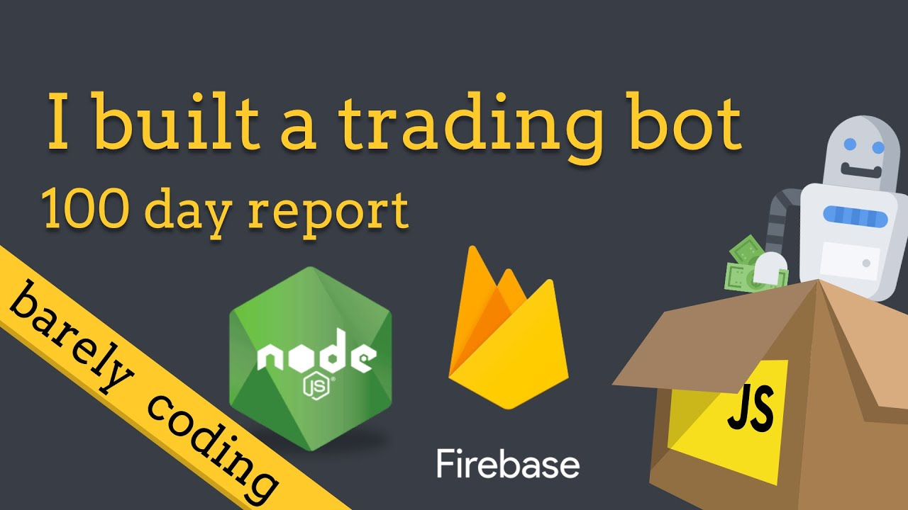 Trading Bot built with Node and Firebase - 100 day profit report