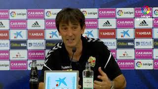Rueda de prensa de  Pacheta tras el Real Zaragoza vs Elche CF (1-0)