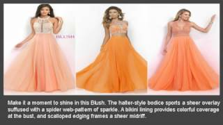 Orange Homecoming and Prom Dresses - Couturecandy.com