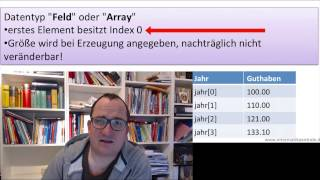 Java Arrays (deutsch) 1: Grundlagen