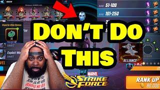 Top 5 Beginner Mistakes - Beginners Guide 2020 - Marvel Strike Force - MSF