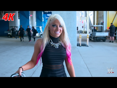 An excited Alexa Bliss is running on adrenaline: WrestleMania 4K Exclusive, April 2, 2017