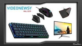 Nowe myszki, klawiatury, fotel ergonomiczny i więcej! Videonewsy Rooshkena Maj 2019