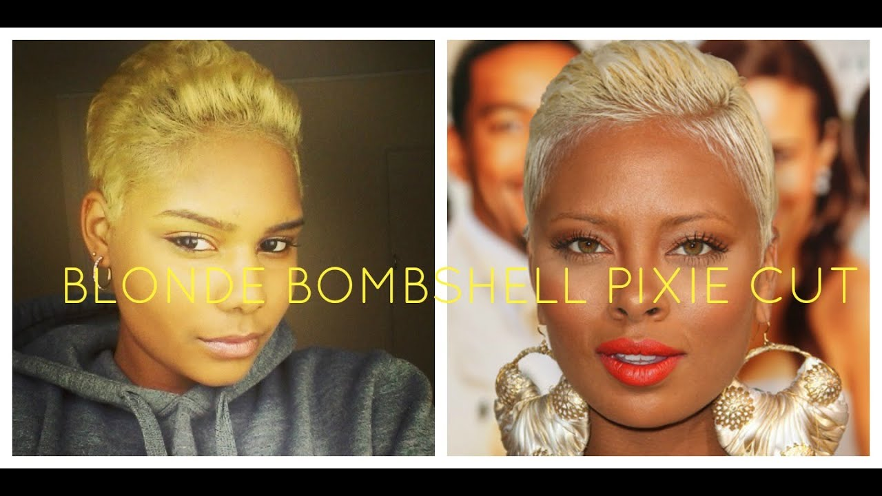 Short Blonde Hairstyle Inspired By Eva Marcille