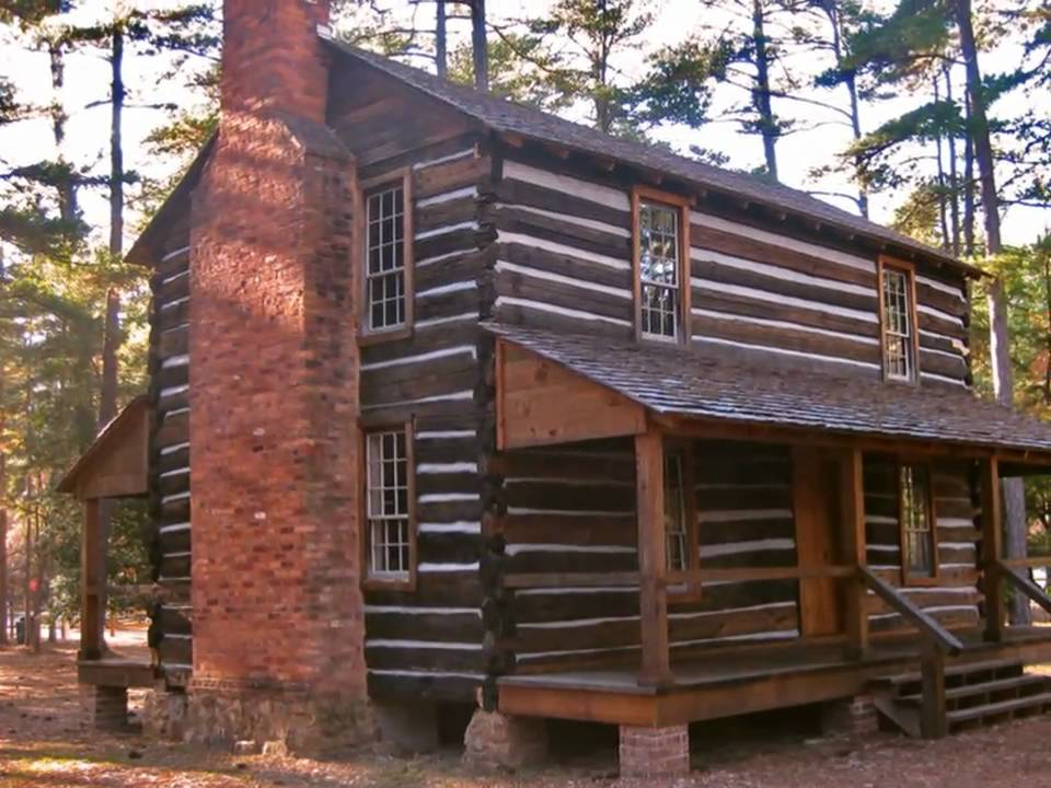 Sesquicentennial state park 39 s mid 18th century log cabin for Colonial log homes