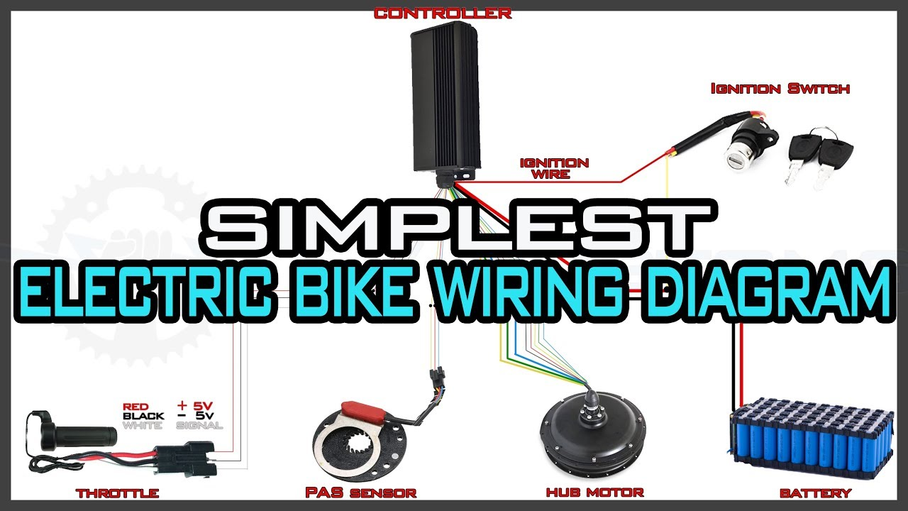 Simplest Electric Bike Wiring Diagram YouTube - Electric bicycle controller wiring diagram