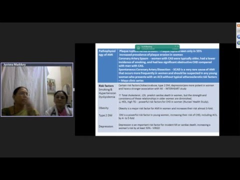Acute MI in women Latest guidelines – Dr Maddury Jyotsna & Dr Nemani Lalitha