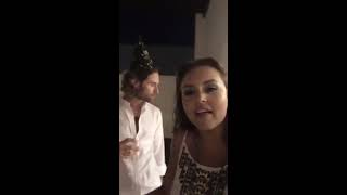 Angelique Boyer en #Facebook con Sebastian Rulli. Happy New Year! 01.01.2017