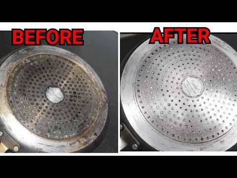 How to clean the back of non-stick pan-नानस्टिक पैन पीछे से कैसे साफ करें-Clean Non-Stick Pan Bottom
