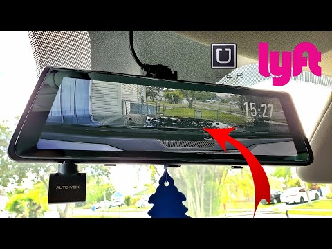 AutoVox A1 - The 3-in-1 Rear View Mirror - Ideal For Uber And Lyft Drivers!