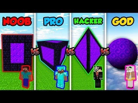 Minecraft NOOB vs. PRO vs. HACKER vs. GOD: SECRET PORTAL CUBE in Minecraft! (Animation)