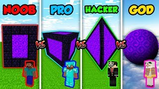 Minecraft NOOB vs. PRO vs. HACKER vs. GOD: SECRET PORTAL CUBE in Minecraft! (Animation)