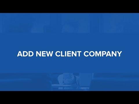 LegalTrek Tutorials: Adding New Client Company