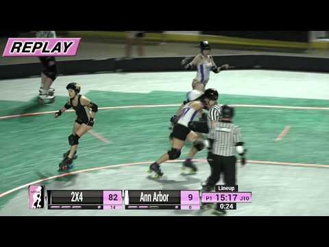 WFTDA Roller Derby - Division 1, Seattle - Game 14 - Ann Arbor vs. 2×4 Roller Derby