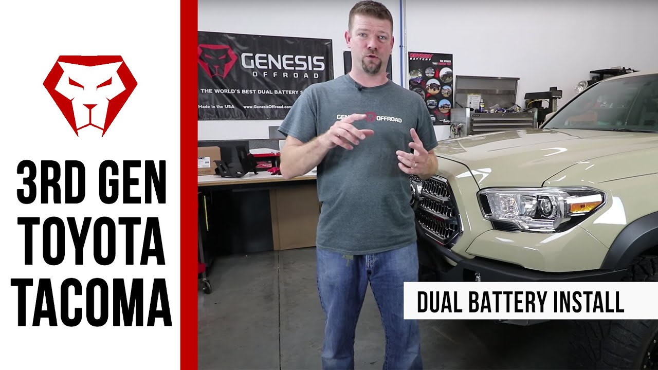 Toyota Tacoma Dual Battery Kit Installation Instructions Youtube 110 Volt Isolator Wiring Diagram