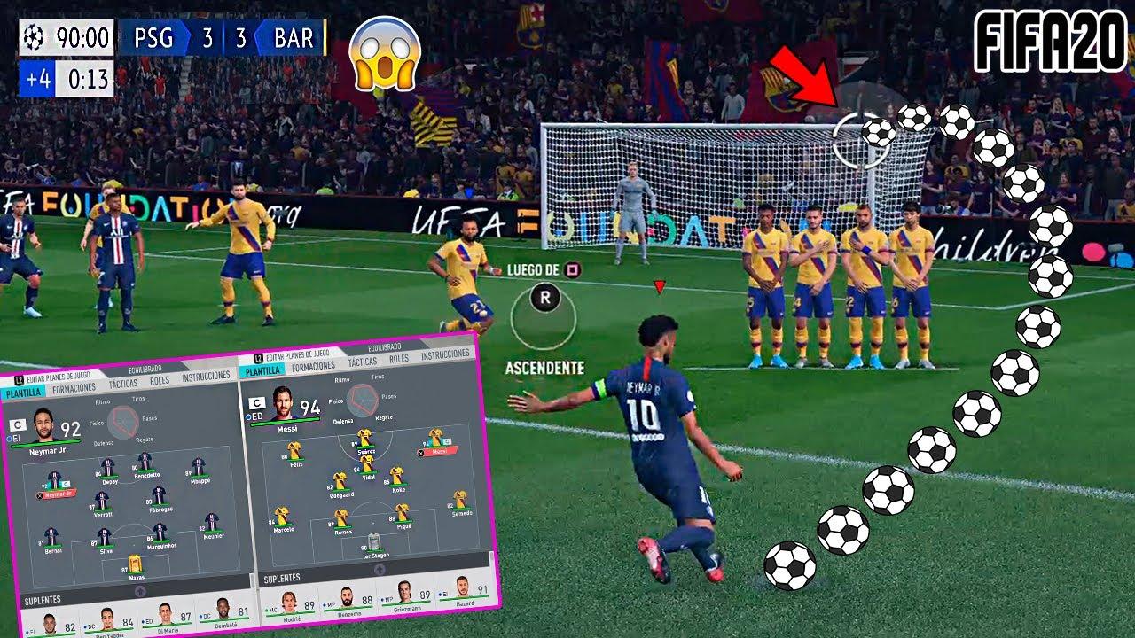 El PARTIDO mas ÉPICO que JUGAMOS en FIFA20 !!! 😱 BARCELONA vs PSG (LaLIGA vs LigueONE)