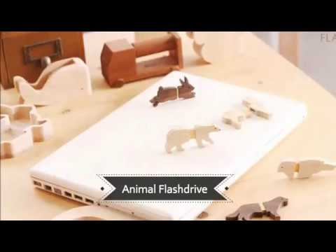 wooden flash drive