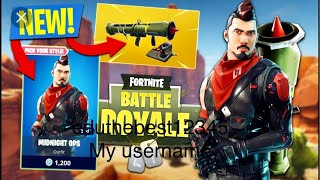 Fortnite *new midnight ops skin and new nite owl pickaxe