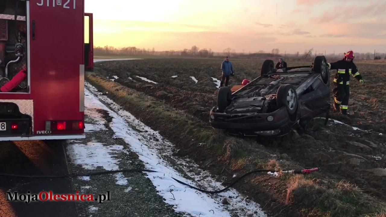 16.01.2018 Oleśnica – dachowanie na drodze do Nieciszowa