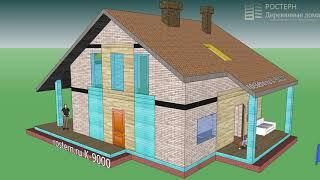 Каркасный дом европейского типа архитектуры #Проект #дом #стройка #дизайн #ремонт