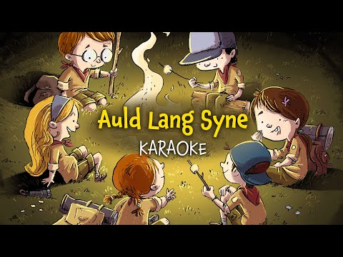 Auld Lang Syne (instrumental - lyrics video for karaoke)