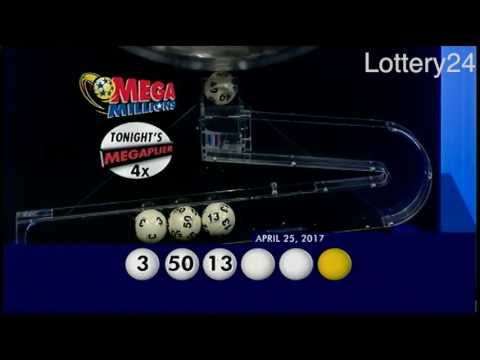 2017 04 25 Mega Millions Numbers and draw results