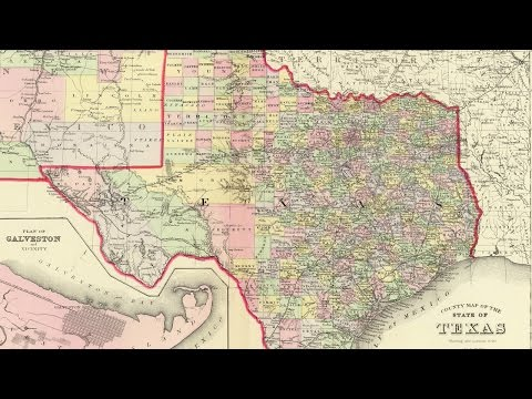 Map Of Texas Cities (1856)