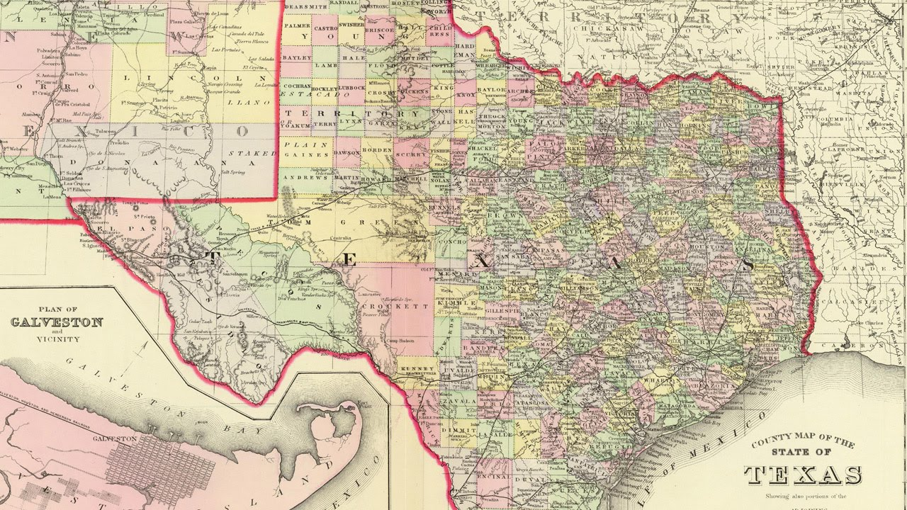 Map Of Texas Cities YouTube - Texas map cities