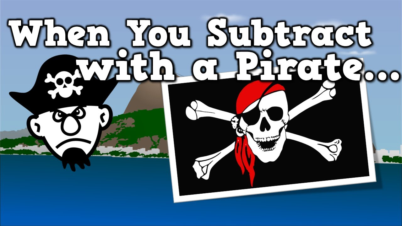 When You Subtract with a Pirate (subtraction song for kids) - YouTube