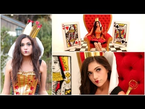 DIY Tim Burton\u0027s Queen of Hearts Costume + Makeup!