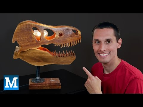 How to Make a T. rex Skull Lamp