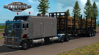 Medium Logs | OwnTrailer Transportation | Kenworth K100 - American Truck Simulation