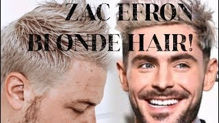 BLEACHING HAIR TO ZAC EFRON BLONDE! BRUNETTE TO BLONDE