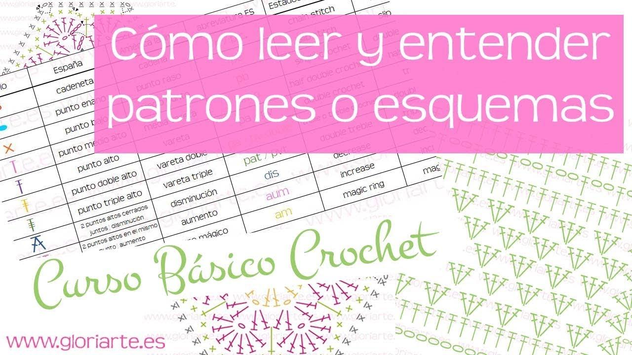 Curso básico crochet: leer patrones, esquemas o diagramas. read ...