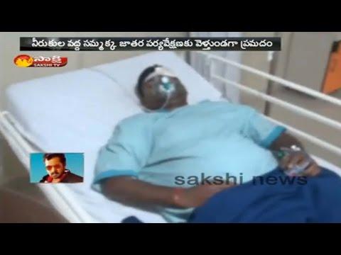 SI Indrasena Reddy Injured in Road Accident || Karimnagar District