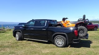2019 GMC Sierra 1500 first drive part 3, Adaptive Ride Control, MultiPro Tailgate and CarbonPro Box