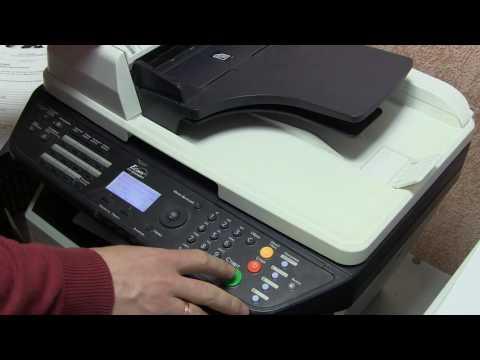 Копирование паспорта на аппарате МФУ  Kyocera FS1300 1030 1128MFP