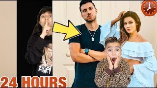 24 HOUR CHALLENGE IN THE ROYALTY FAMILY'S HOUSE!! (ALMOST GOT ARRESTED!)