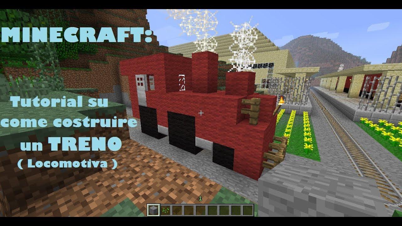 Minecraft tutorial su come costruire un treno locomotiva for Come costruire un cabana