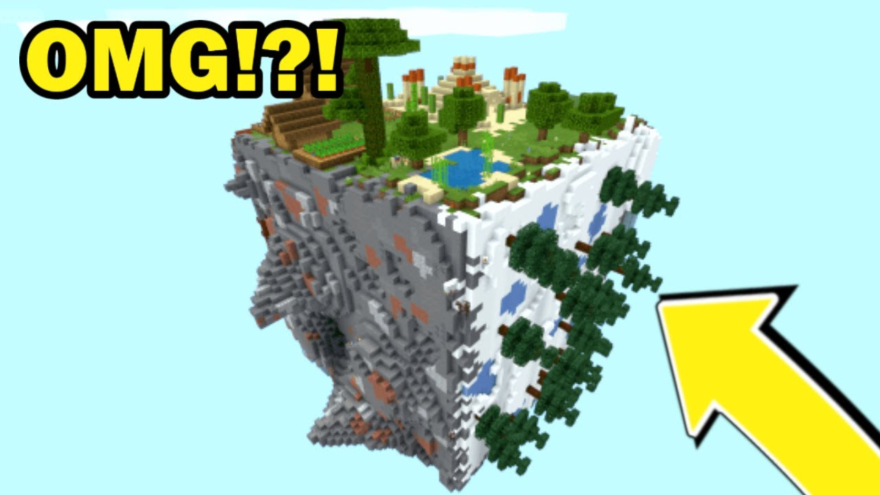 SURVIVING In EARTH CUBE In Minecraft!!?!  *CRAZY*