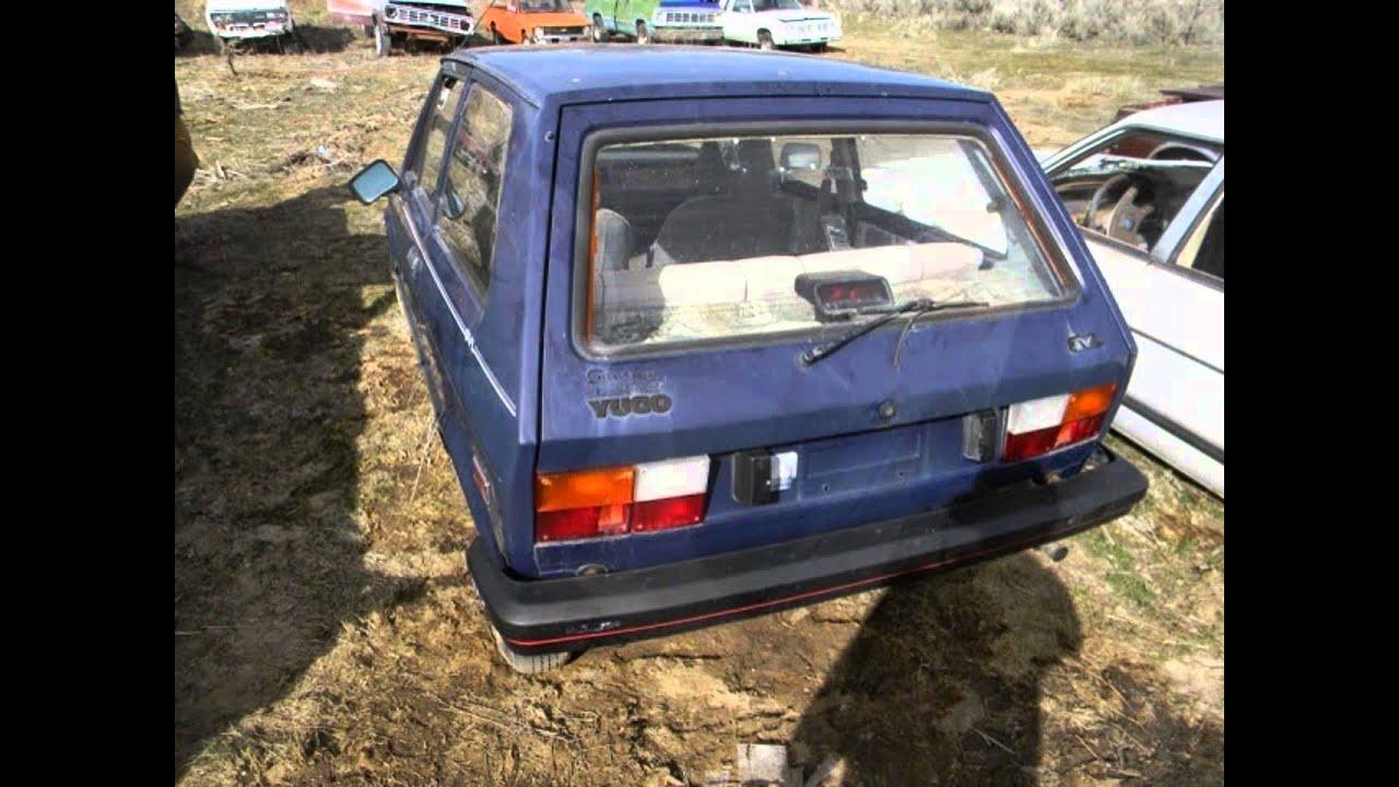 Abandoned junkyard 1988 yugo gvl