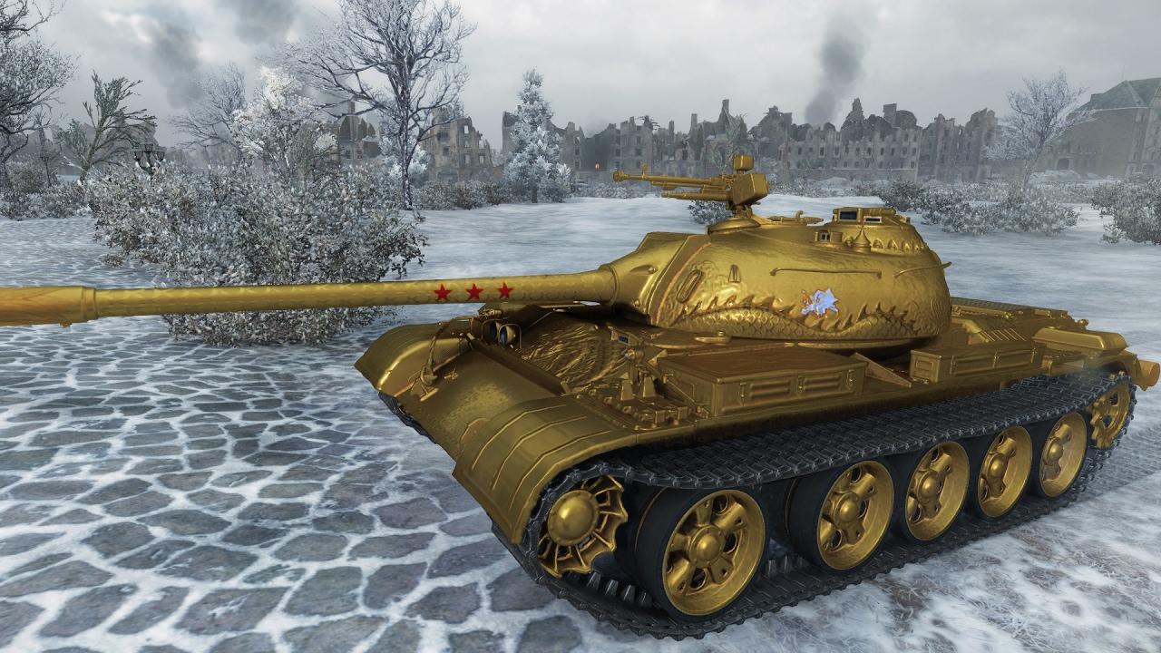 World of Tanks Type 59 (Gold skin) | 6.172 DMG | 161.000